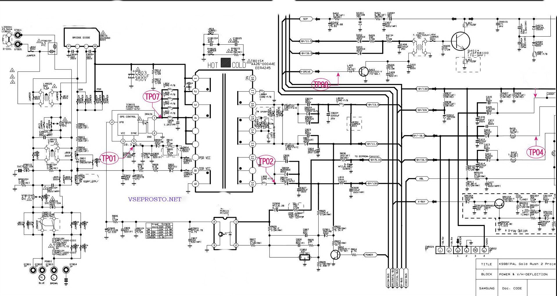схема телевизора samsung ks1a14cb mod cs-14c8k скачать